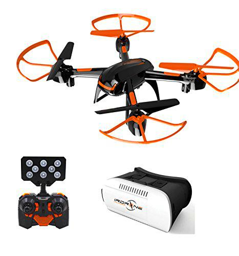 Irdrone Pack Drone + Camera WiFi + Casque Realite Virtuelle